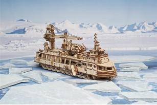 Mechanical wooden Model «Research Vessel»