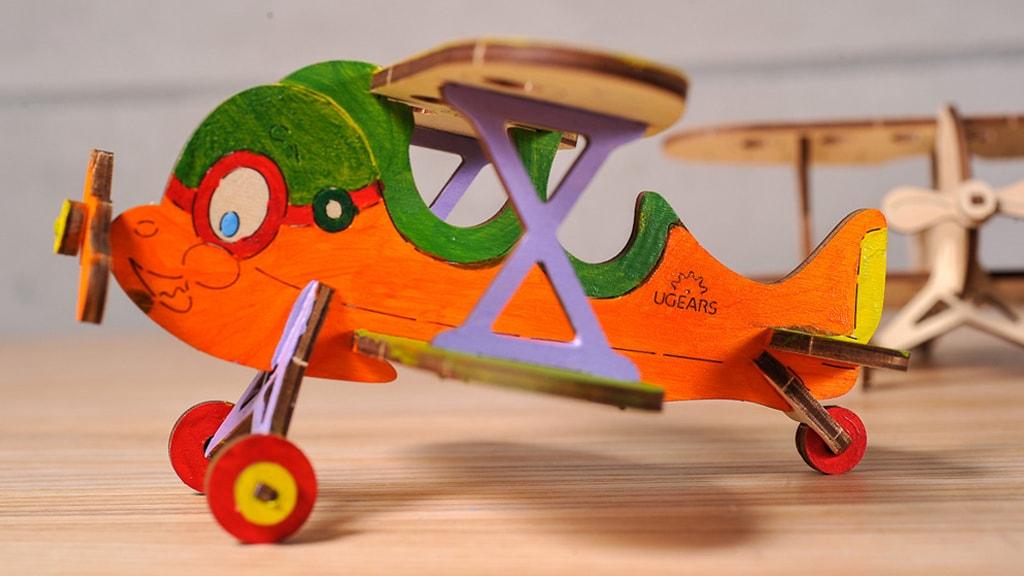 Mechanical model Biplane