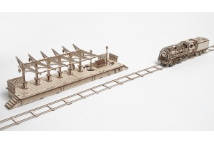 Mechanical model Railway Platform